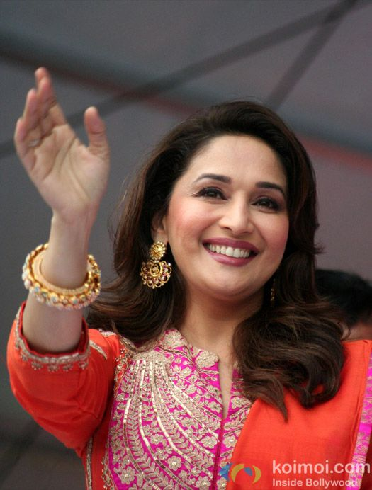 Madhuri Dixit launches Gulaab Gang's music in Varanasi