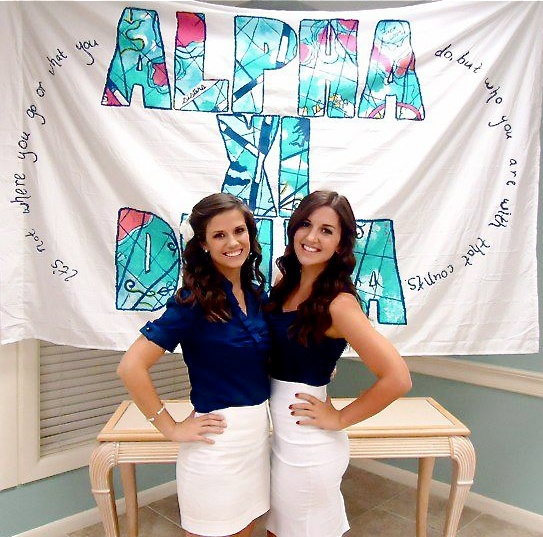 Banners | Alpha Xi Delta | AXD travelling theme bid day banner #greek #sorority #recruitment