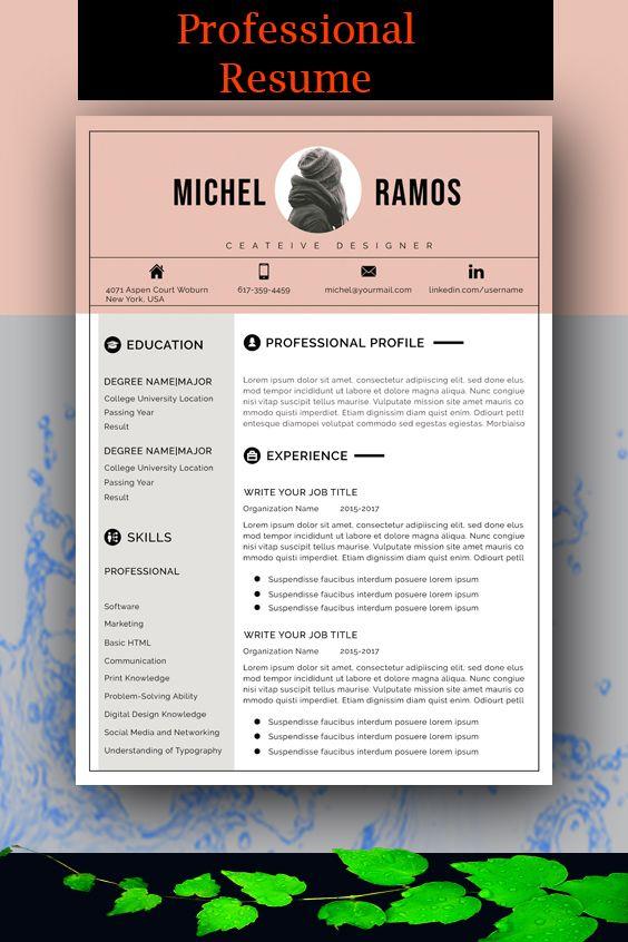 Modern Resume Template Microsoft Word Free Resume Template Etsy Creative Resume Template Free Free Resume Template Word Modern Resume Template