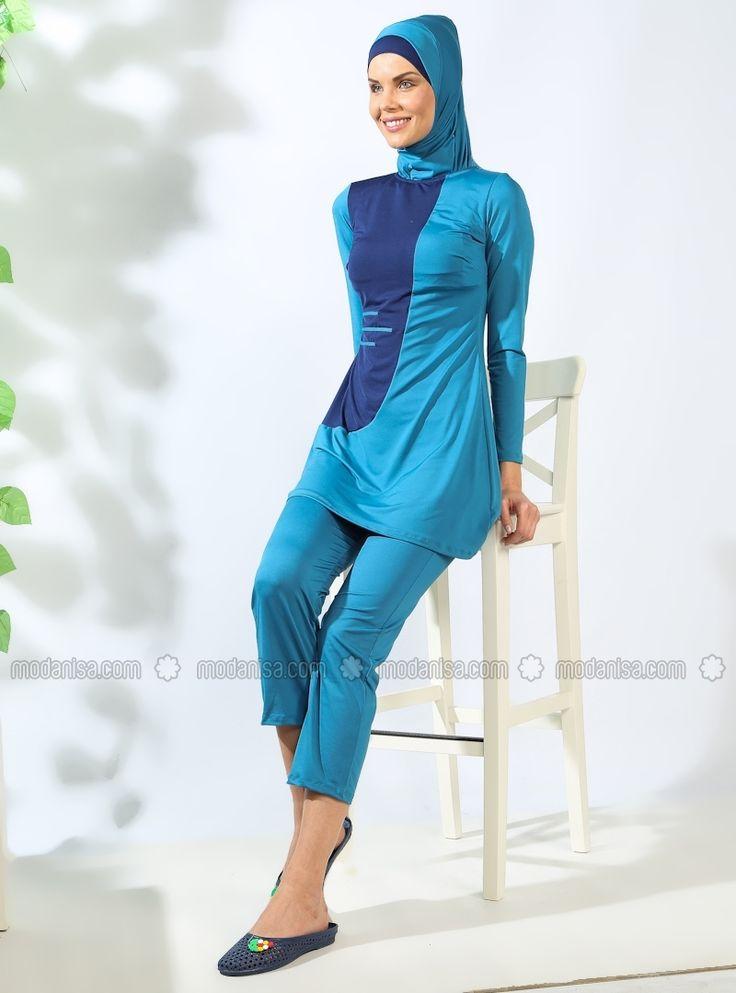 Full Off Swimwear Blue Mayo Bella Nice Blue Burkini