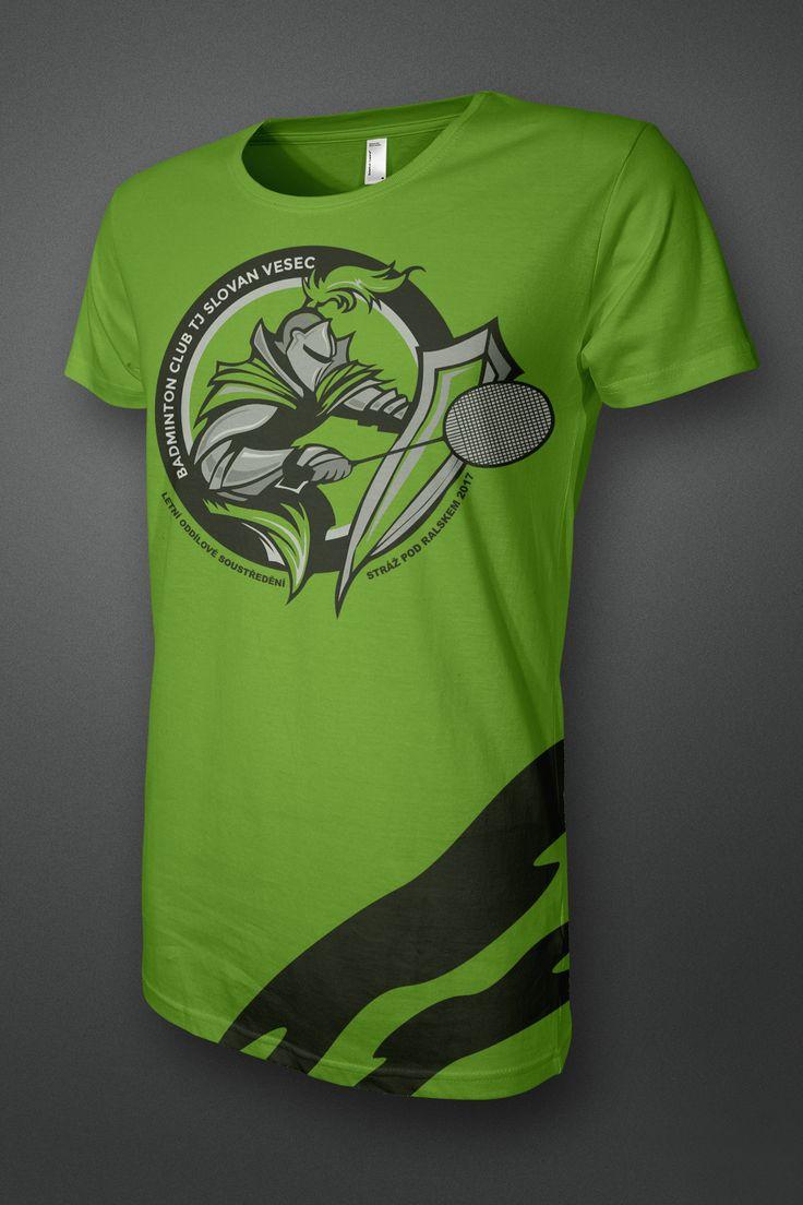 Návrh triček pro Badmintonový oddíl TJ SLOVAN VESEC