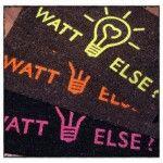Les paillassons Watt Else, jolies créations Cöté Maison : http://www.cotemaison.com/cote-deco/paillasson-watt-else-orange-fluo.html http://www.cotemaison.com/cote-deco/paillasson-watt-else-anis.html http://www.cotemaison.com/cote-deco/paillasson-watt-else-rose-fluo.html