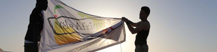 De Vélo Afrique vlag in Senegal!
