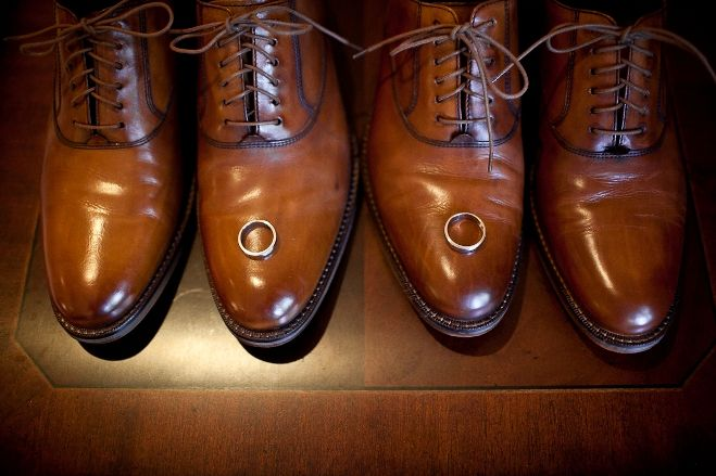 Photo by Jessica Hill, A Brit and a Blonde / wedding rings / gay grooms / two grooms / wedding bands / shoes / wedding photography
