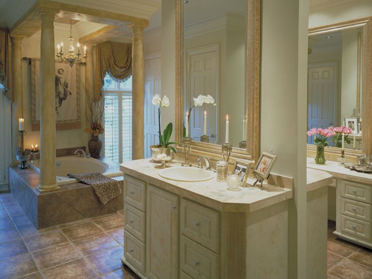 Pics Of Plantation House Plan Master Bathroom Photo for Home Plan also known as the Wembleton Traditional Home from House Plans and More