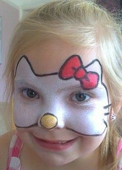 face painting flyer | face painting / Hello Kitty! Face Painting Ideas,