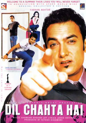 Dil Chahta hai...One of my Favorite movie..great caste ..specially Aamir khan did awesome in it #Bollywood #Movie