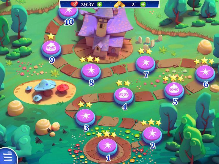 Duidelijke weergave van een map waar de speler gemakkelijk door kan navigeren tussen levels in