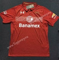 2017-18 Deportivo Toluca FC Red Thailand Soccer Jersey