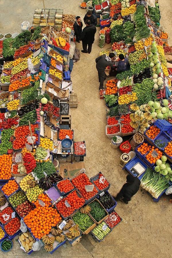 Vegetable Market in Konya, Turkey