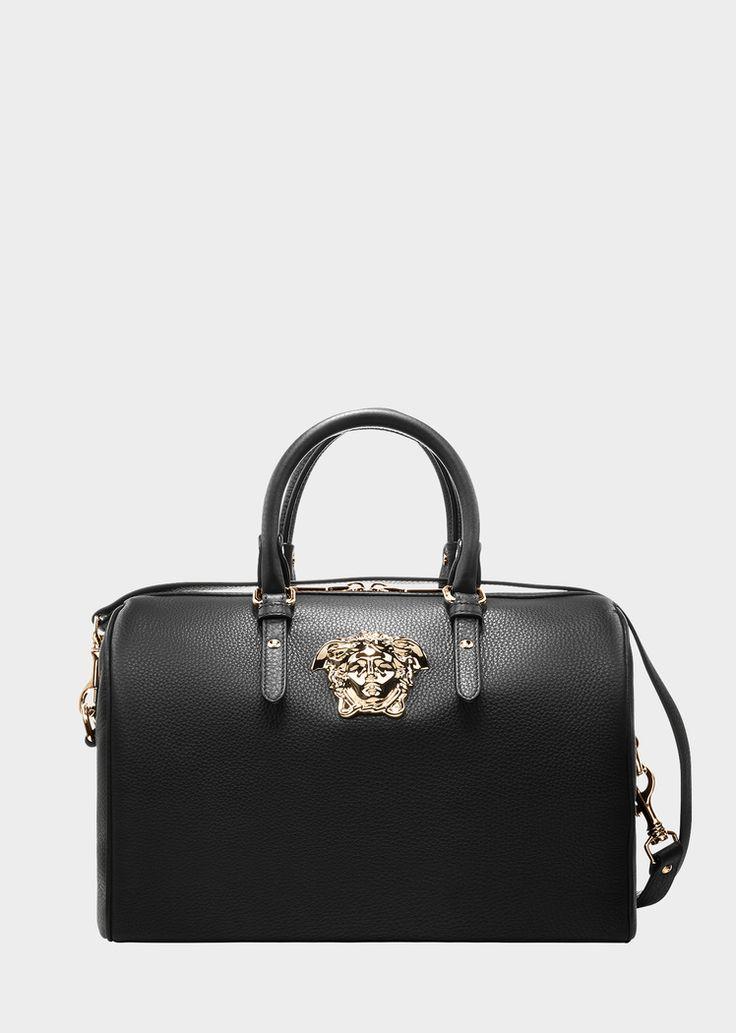 "Versace Palazzo Duffle Bag for Women | US Online Store. Palazzo Duffle Bag from Versace Women's Collection. This duffle bag from the ""Palazzo"" line features a major metallic Medusa."
