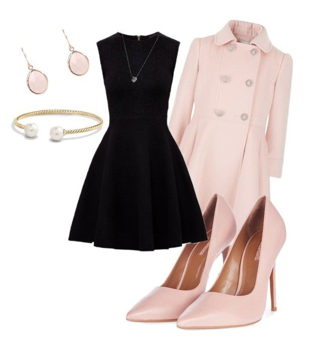 """""""Pretty in pink"""" by olivia-mae-butler on Polyvore featuring Topshop, David Yurman, Ted Baker and Links of London"""