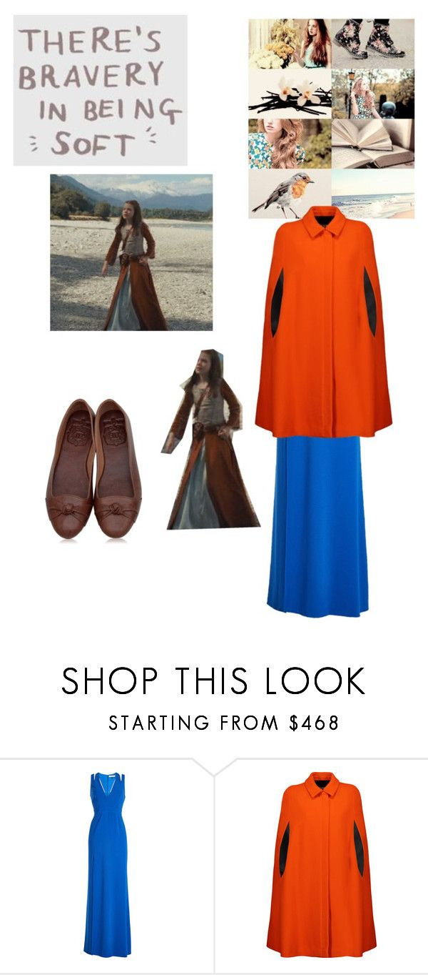 """""""Lucy Pevensie"""" by londonblossom ❤ liked on Polyvore featuring Halston Heritage and MSGM"""