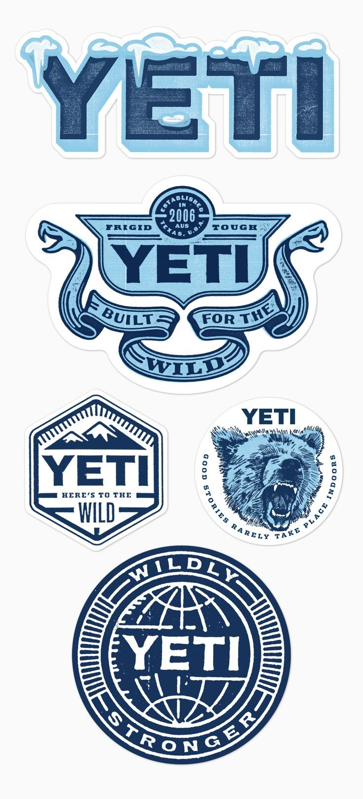 Yeti Stickers1 Png Brand Stickers Sticker Design Graphic Design Logo