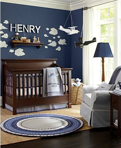 Love this baby boy room. Save for MUCH later ;)