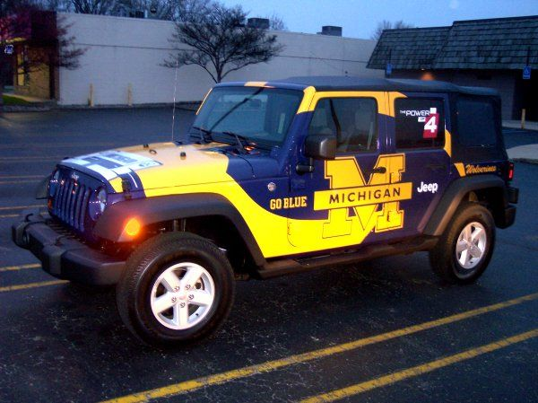 Michigan Wolverines Jeep JK Wrangler... Pull the gear in style! #Ultimate Tailgate #Fanatics