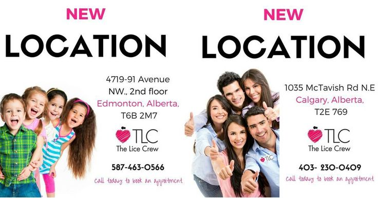 Here we grow again! TWO locations ONE province ONE month! The Lice Crew is super excited to announce our expansion into Western Canada with the opening of our two new clinics in Alberta.  Edmontons first ever Lice Treatment and Prevention Clinic located at 4719-91 Avenue NW. 2nd floor Edmonton Alberta T6B 2M7 and our 2nd location in located in Calgary at 1035 McTavish Rd. N.E. Calgary AlbertaT2E 769.  Call us and speak with a trained professional to learn more about our all natural TLC lice…