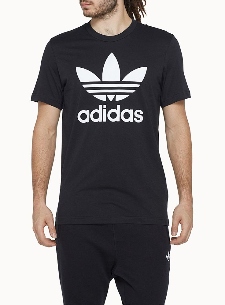 Adidas authentic old-school design Originals   From the Better Place program, environmentally-friendly designed styles   Regular fit   100% organic cotton jersey    The model is wearing size medium