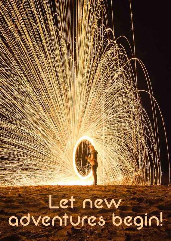 New Advantures Abenteuer Neues Jahr Grusskarte Gruesse