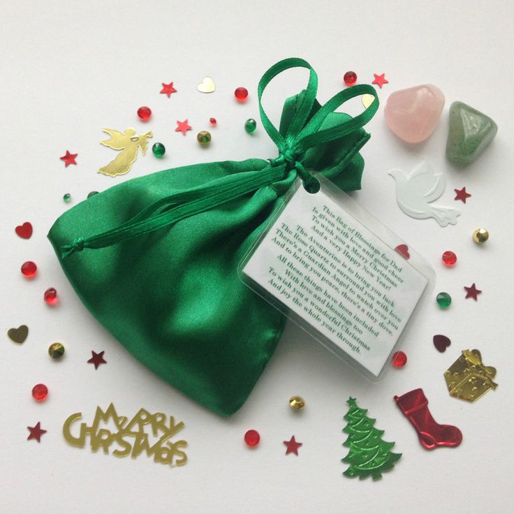 Gift of Christmas Blessings for Dad, Grandad, Son, etc - Stocking Filler Xmas Tree Present by www.bagzofblessingz.com #christmas #stockingfiller #crystals