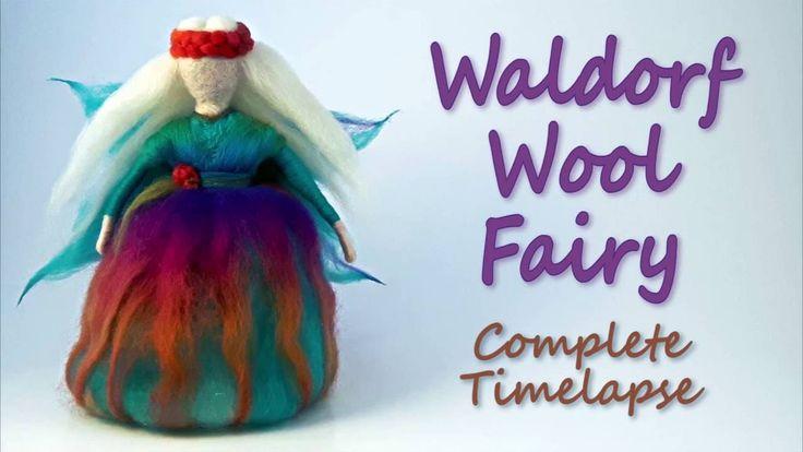 Waldorf Wool Fairy - Needle Felting Complete Timelapse