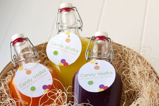 Make your own candy flavored vodka for gifting or having over friends