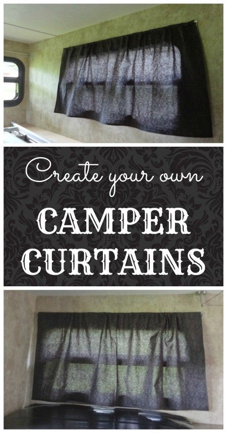 A quick and cheap way to update your camper: Make your own camper window curtains.