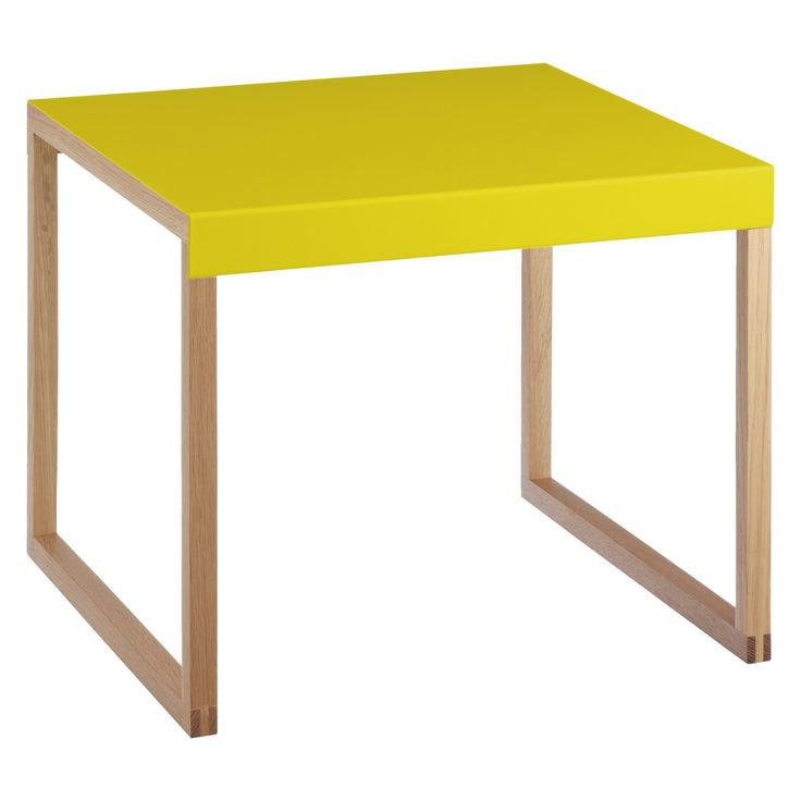 KILO Saffron yellow metal side table | Buy now at Habitat UK