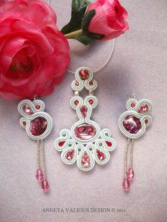 Rosewater soutache earrings