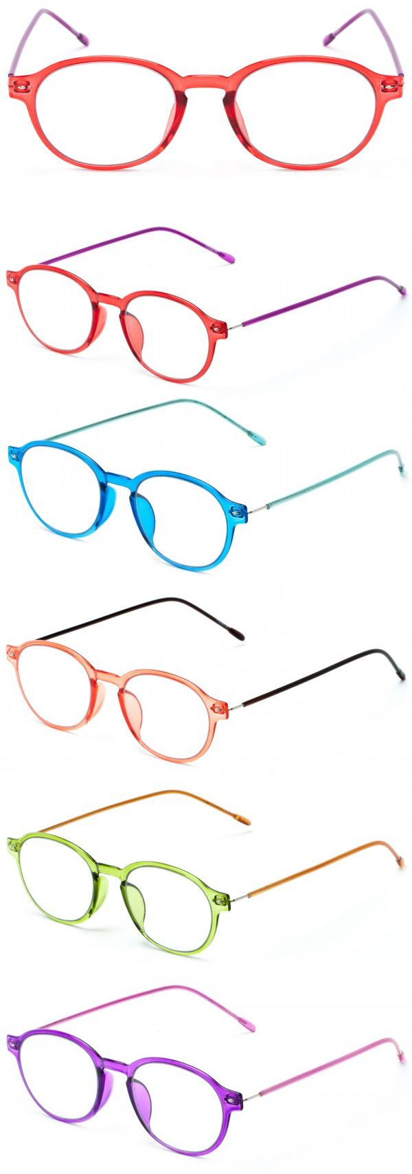 Live for The Applause! This fully magnified reader has a lightweight frame and contrasting, flexible wire temples.