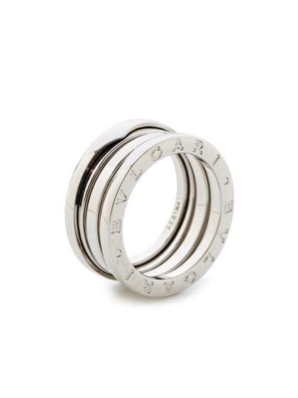 bulgari bzero1 white gold triple band ring