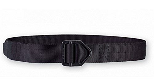 Galco Non-Reinforced Instructors Belt, Black, 1 3/4-Inch/Small Made by #Galco Color #Black. Constructed of Type 13 nylon webbing with five independent rows of stitching running the length of the belt; ideal for use with a holster. Horizontal flexibility is maintained when wrapped around the waist; recommended for comfortable all-day wear. Drop forged parachute-spec buckle. Finished with an epoxy-finished tip that prevents fraying. 1-3/4'' width