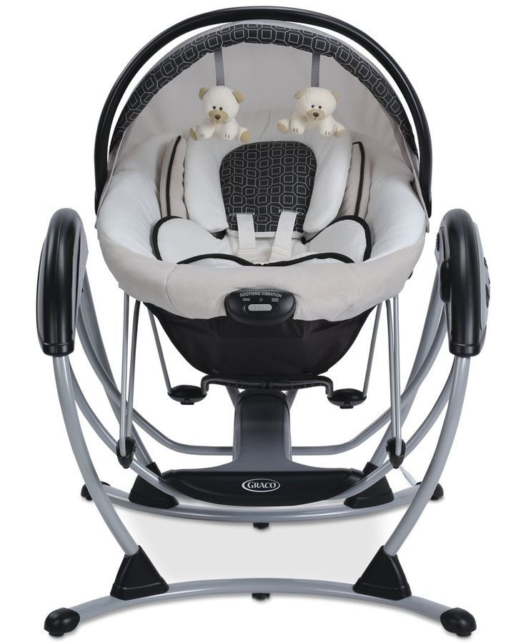 Comfort and cuddle your little one, even when she's not in your arms, with the innovative Graco Premier Gliding Swing. As a gliding swing and bouncer, the Graco Premier is an great, portable way to so