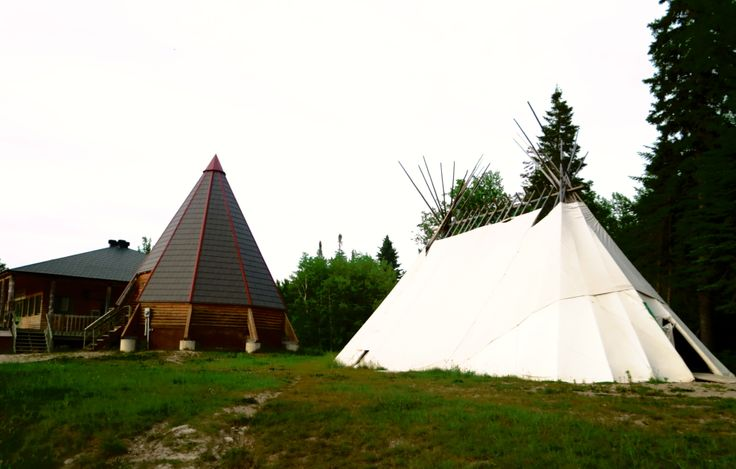 Tipi House in Moose Factory, Ontario