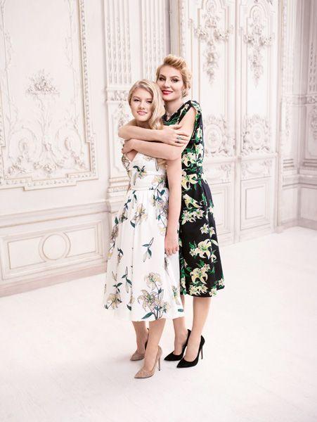 Рената Литвинова и ее дочь Ульяна в рекламе Zarina весна-лето 2014 #fashion