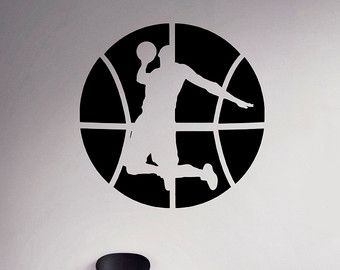 Baloncesto pared etiqueta cesta bola pegatina por BestDecalsUSA