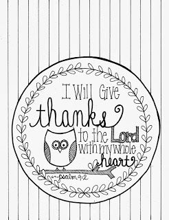 I Will Give Thanks Psalm 92 Coloring Page Thanksgiving PagesThanksgiving Bible