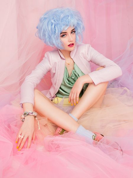 """Pastel Dreams"" www.wandabadwal.com   Pastel,Fashion,Colors,Pink,:"