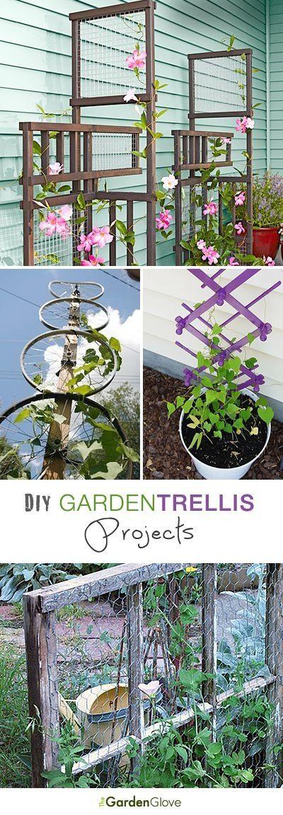 DIY Garden Trellis Projects • Lots of Ideas & Tutorials! by bleu.