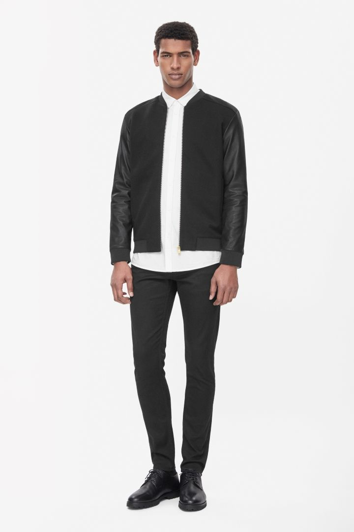 COS | Leather sleeve jacket -   Simplicity is quality in details