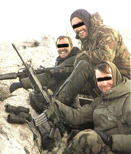 British SAS during the Falklands war, April - June 1982.