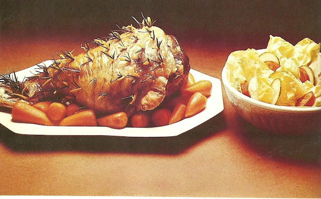 If I am going to eat a microwaved leg of lamb and the last bit of a head of lettuce, my only request is that the whiskers are removed. A stubbly leg in the mouth is highly unpalatable. (Creative Microwave Cooking, 1976)