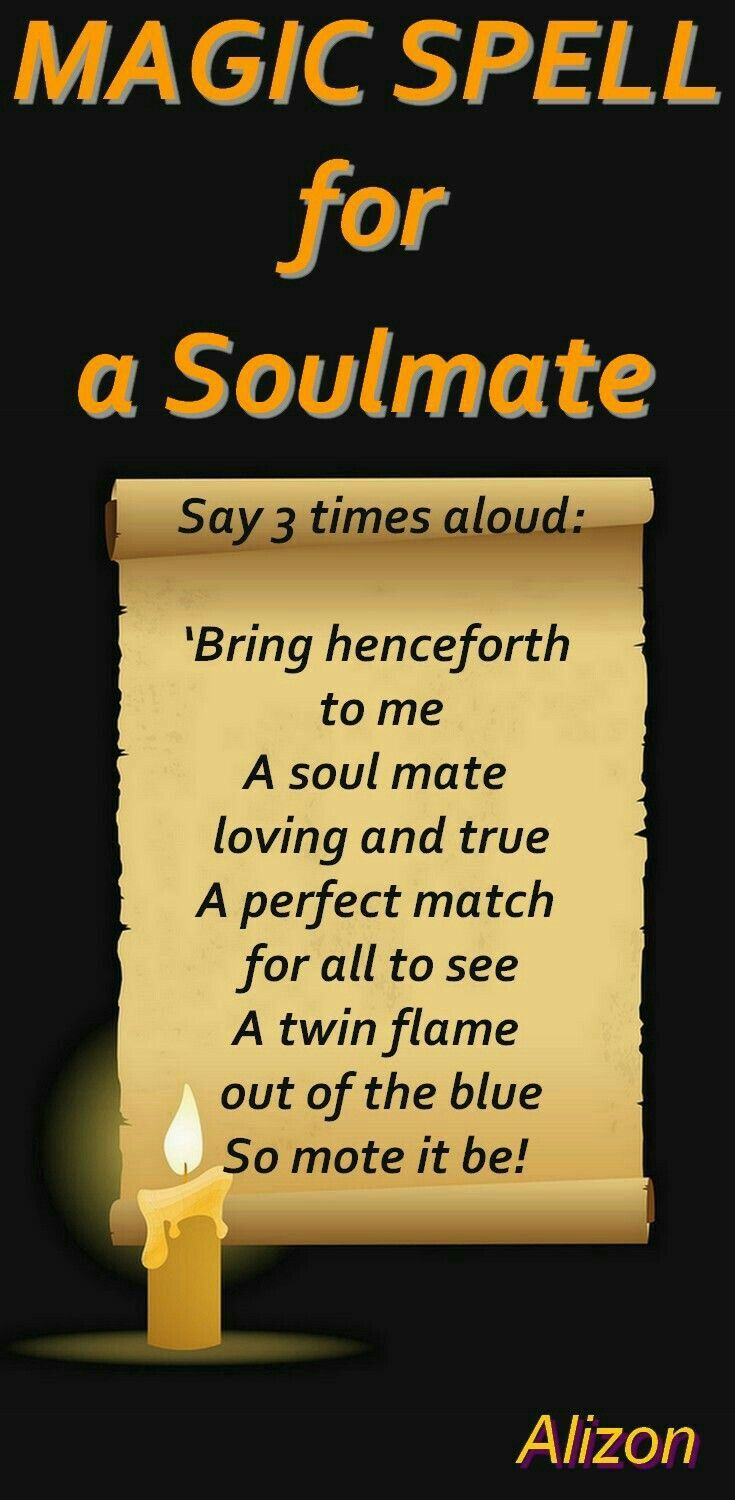 Twin Flame Soul Mate Spell | sPeLLs | Witch spell, Luck spells