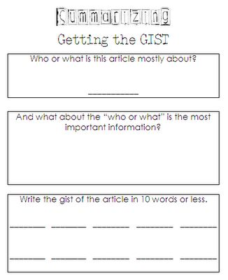 Summarizing/ could use to sum up an art lesson. A quick exit quiz for checking retention of info