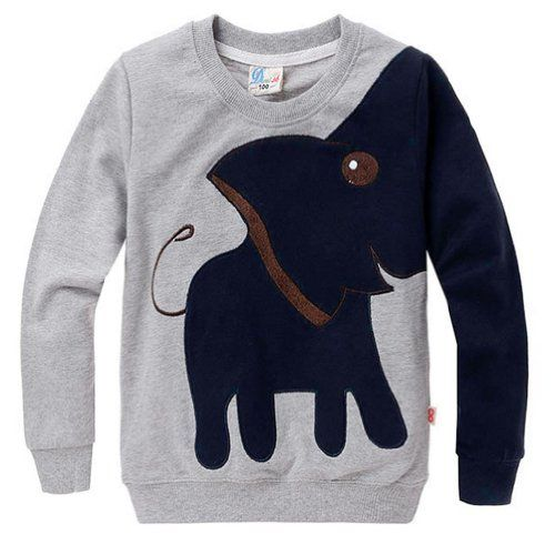 Little Hand Little Boys Lucky Elephant Print Long Sleeve ...