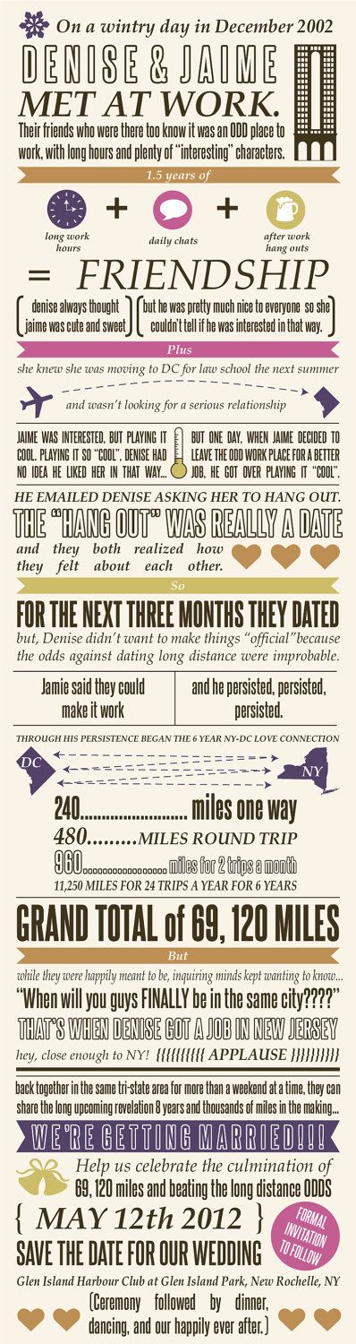 Inforgraphic save the date, how fun!