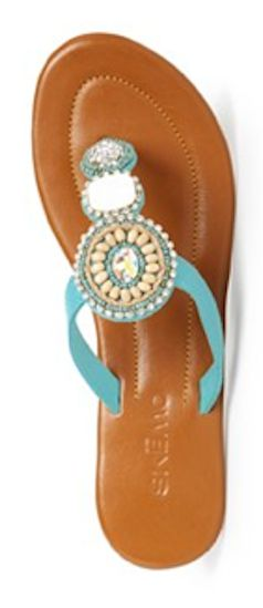 #turquoise sandals  http://rstyle.me/n/h25xzpdpe