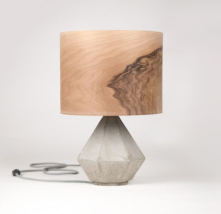 Concrete and Wood lamp We make stuff