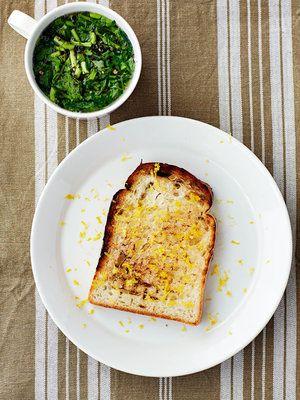 【ELLE a table】レモンバタートーストとクレソン&ベーコンのスープレシピ|エル・オンライン