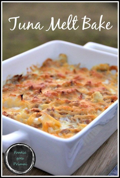 Tuna Melt Bake {LCHF, Banting, Comfort Food}